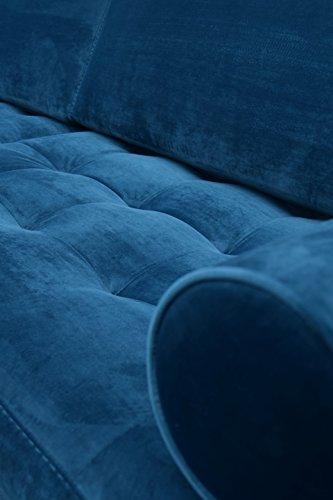Sofa Venice Vintage Samt Blau 3 Sitzer 230 - 7