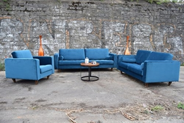 Sofa Venice Vintage Samt Blau 3 Sitzer 230 - 8