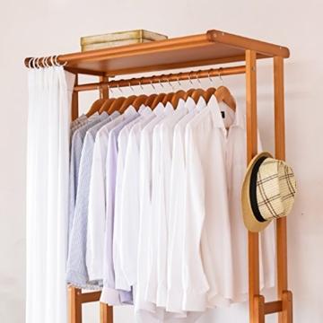 StandsL kleiderständer garderobe Europäischen Stil Kleiderschrank Stil Massivholz Mehrzweck Kleidung Mantel Stand Schuhe Rack, Größe: 52 * 92 * 210cm garderobenständer ( Farbe : C ) - 4