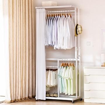 StandsL kleiderständer garderobe Europäischen Stil Kleiderschrank Stil Massivholz Mehrzweck Kleidung Mantel Stand Schuhe Rack, Größe: 52 * 92 * 210cm garderobenständer ( Farbe : C ) - 1