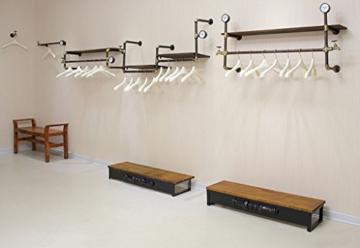 StandsL kleiderständer garderobe Retro multifunktionale wand montiert eisen rohr schmiedeeisen aufhänger wohnzimmer schlafzimmer mode wandhalter persönlichkeit industrielle wind rohr kleidung display-ständer garderobenständer - 5