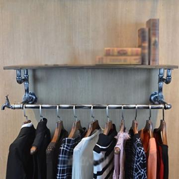 StandsL kleiderständer garderobe Retro Multifunktionale Wandschlauch Eisen Kleiderbügel Wohnzimmer Schlafzimmer Mode Wandhalterung Industrie Fengshui Kleidung Display-ständer garderobenständer ( Farbe : A , größe : 30*25*120cm ) - 1