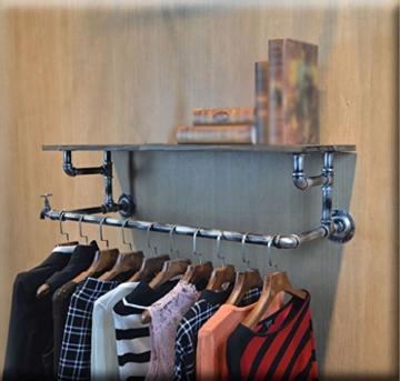 StandsL kleiderständer garderobe Retro Multifunktionale Wandschlauch Eisen Kleiderbügel Wohnzimmer Schlafzimmer Mode Wandhalterung Industrie Fengshui Kleidung Display-ständer garderobenständer ( Farbe : A , größe : 30*25*120cm ) - 2