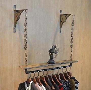 StandsL kleiderständer garderobe Vintage massivholz schlauch wand regal kleiderbügel kleiderbügel wand kette hängen aufhänger regal garderobenständer ( Farbe : A , größe : 13*130cm ) - 2