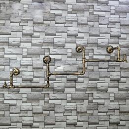 StandsL kleiderständer garderobe Vintage Wand Schlauch Eisen Kleiderbügel Wohnzimmer Schlafzimmer Mode Wandhalterung Industrie Feng Shui Kleidung Display-ständer garderobenständer ( Farbe : B ) - 1