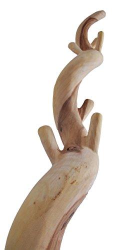 Teakholz Garderobe, natur Teak Holz Garderobenständer Holz - 2