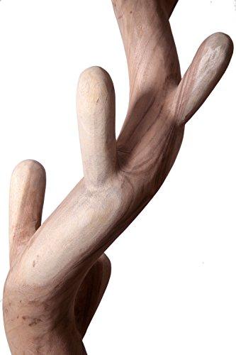 Teakholz Garderobe, natur Teak Holz Garderobenständer Holz - 3