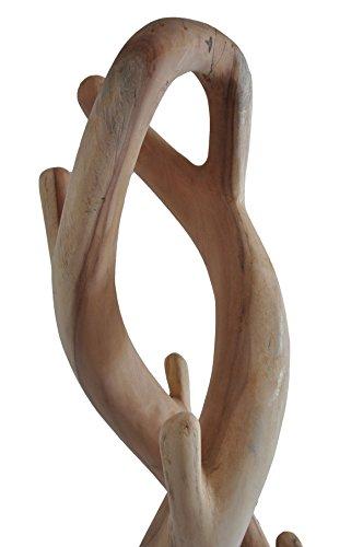 Teakholz Garderobenständer, doppelt geschwungen Teak Holz Garderobe - 2
