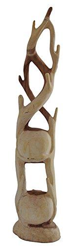 Teakholz Garderobenständer, zwei Fächer Teak Holz Garderobe - 3