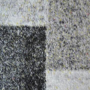 Teppichläufer Lucano | Patchwork Muster im Vintage Look | viele Größen | moderner Teppich Läufer für Flur, Küche, Schlafzimmer | Niederflor Flurläufer, Küchenläufer | anthrazit Breite 80 cm x Länge 1000 cm - 3
