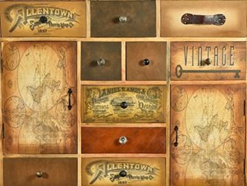 The Wood Times Kommode Schrank Massiv Vintage Look Allentown Mangoholz, FSC Zertifiziert, BxHxT 125x110x35 cm - 3