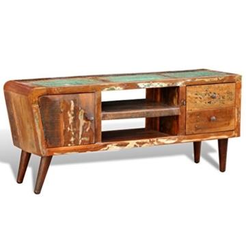 vidaXL Antik TV Hifi Rack Lowboard Sideboard Fernsehtisch Vintage Holz Teak Retro 2 - 2