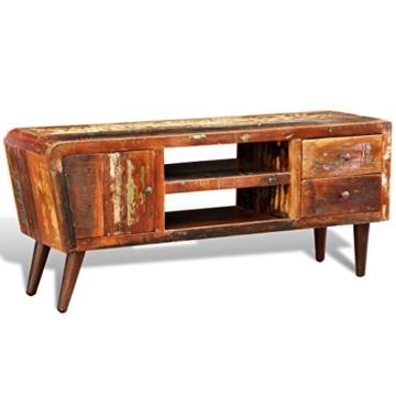 vidaXL Antik TV Hifi Rack Lowboard Sideboard Fernsehtisch Vintage Holz Teak Retro 2 - 3