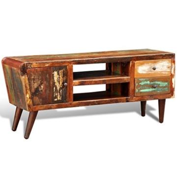 vidaXL Antik TV Hifi Rack Lowboard Sideboard Fernsehtisch Vintage Holz Teak Retro 2 - 5