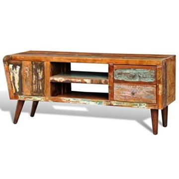 vidaXL Antik TV Hifi Rack Lowboard Sideboard Fernsehtisch Vintage Holz Teak Retro 2 - 6