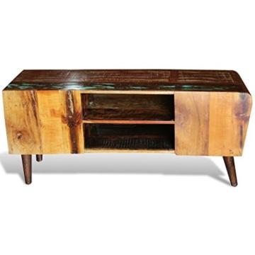 vidaXL Antik TV Hifi Rack Lowboard Sideboard Fernsehtisch Vintage Holz Teak Retro 2 - 7