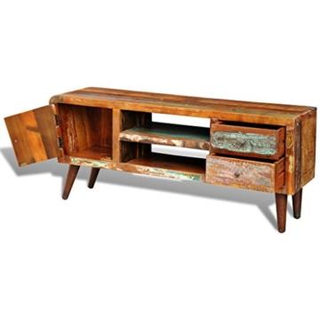 vidaXL Antik TV Hifi Rack Lowboard Sideboard Fernsehtisch Vintage Holz Teak Retro 2 - 8