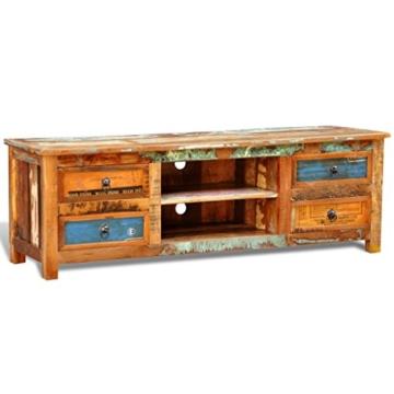vidaXL Antik TV Hifi Rack Lowboard Sideboard Fernsehtisch Vintage Holz Teak Retro 4 - 3