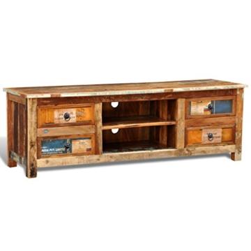 vidaXL Antik TV Hifi Rack Lowboard Sideboard Fernsehtisch Vintage Holz Teak Retro 4 - 4