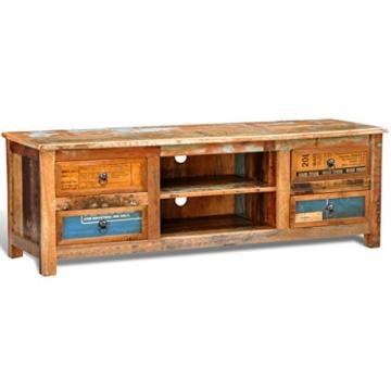 vidaXL Antik TV Hifi Rack Lowboard Sideboard Fernsehtisch Vintage Holz Teak Retro 4 - 1