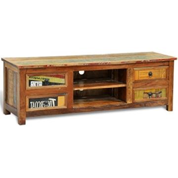 vidaXL Antik TV Hifi Rack Lowboard Sideboard Fernsehtisch Vintage Holz Teak Retro 4 - 5