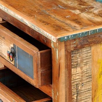 vidaXL Antik TV Hifi Rack Lowboard Sideboard Fernsehtisch Vintage Holz Teak Retro 4 - 9