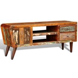 vidaXL Antik TV Hifi Rack Lowboard Sideboard Fernsehtisch Vintage Holz Teak Retro 2 - 1