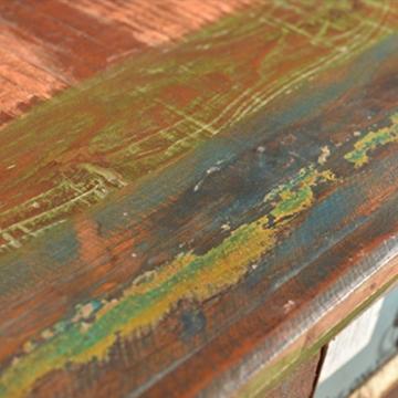 vidaXL Kommode Schrank Kabinett Sideboard Massivholz Teak Antik Anrichte Vintage Retro - 2