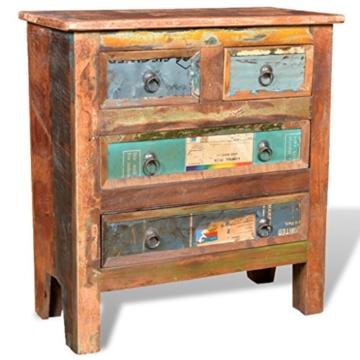 vidaXL Kommode Schrank Kabinett Sideboard Massivholz Teak Antik Anrichte Vintage Retro - 1