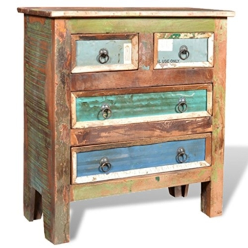 vidaXL Kommode Schrank Kabinett Sideboard Massivholz Teak Antik Anrichte Vintage Retro - 5