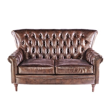 vintage chesterfield sofa ledersofa braun echtleder antik. Black Bedroom Furniture Sets. Home Design Ideas
