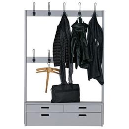 Vintage Garderobe HOOKED I 180 cm hoch Flurgarderobe Bank Aufhängemöglichkeit - 1