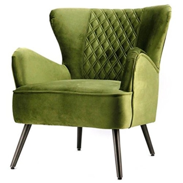 Vintage Sessel Polstersessel DAISY II grün Loungesessel Clubsessel Fernsehsessel -