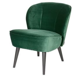 Vintage Sessel Polstersessel SARA Samt Loungesessel Clubsessel Fernsehsessel (grün) - 1