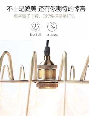 WAWZW Vintage Metall Deckenleuchten Schatten Weiße Feder Lampe Schlafzimmer Restaurant kreative minimalistischen Kinderzimmer Pendelleuchten - 3