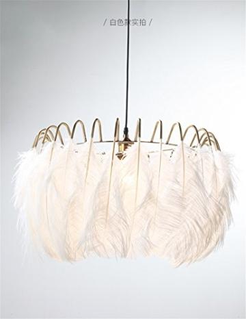 WAWZW Vintage Metall Deckenleuchten Schatten Weiße Feder Lampe ...