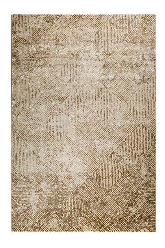 wecon home Neo Vintage Tiles Moderner Marken Teppich, Polyester Mikrofaser, Beige, 290 x 200 x 1.2 cm - 2