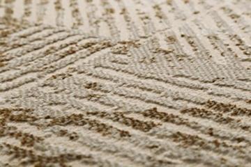 wecon home Neo Vintage Tiles Moderner Marken Teppich, Polyester Mikrofaser, Beige, 290 x 200 x 1.2 cm - 4