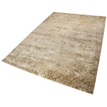 wecon home Neo Vintage Tiles Moderner Marken Teppich, Polyester Mikrofaser, Beige, 290 x 200 x 1.2 cm - 1