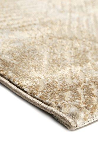 wecon home Neo Vintage Tiles Moderner Marken Teppich, Polyester Mikrofaser, Beige, 290 x 200 x 1.2 cm - 5