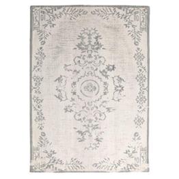 Wohnzimmer Vintage Teppich OASE Ornament Muster Teppiche Carpet Schafwolle (200 x 290 cm, grau) - 1