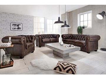 Woodkings® Chesterfield Sessel braun vintage Echtleder Bürosessel Polstermöbel antik Designsessel Federkern unikat Herrenzimmer englisches Leder Stilsessel - 7