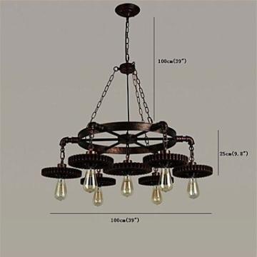 XZX Home 7 kopf vintage holz getriebe pendelleuchten loft kreative industrielle lampe wohnzimmer restaurant bars , 110-120v - 2
