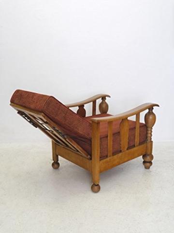 armlehnstuhl sessel liegestuhl antik vintage stil um 1930 eiche massiv 5161 vintage brothers. Black Bedroom Furniture Sets. Home Design Ideas