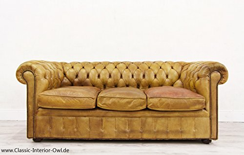 Chesterfield chippendale sofa leder antik vintage couch for Couch auf englisch