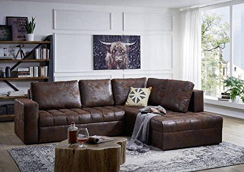 eckgarnitur camino sofa mit schlaffunktion dunkelbraun vintage brothers. Black Bedroom Furniture Sets. Home Design Ideas