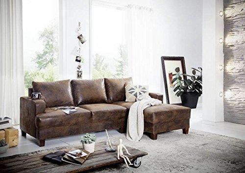 ecksofa 210x88x85 braun cabo vintage brothers. Black Bedroom Furniture Sets. Home Design Ideas