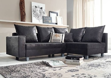 ecksofa 230x160x85 grau maya vintage brothers. Black Bedroom Furniture Sets. Home Design Ideas