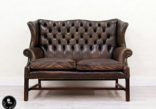 chesterfield chippendale sofa leder antik vintage couch englisch vintage brothers. Black Bedroom Furniture Sets. Home Design Ideas