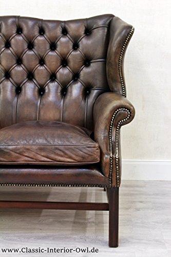 chesterfield chippendale sofa leder antik vintage couch englisch vintage brothers. Black Bedroom Furniture Sets. Home Design Ideas